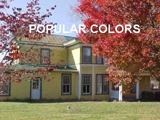 Popular colors applied by Roof Menders