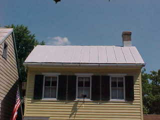 Front view of metal roof in Chesapeake City