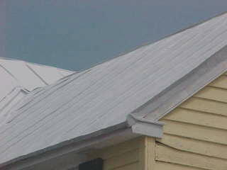 View of a traditional standing seam panel roof
