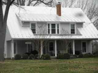 Virginia countryside home restored in silver coatings