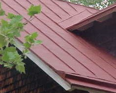 Roof Menders project at Whitesbog Village old metal roof