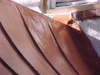 Roofdx copper is smoothed into repair work