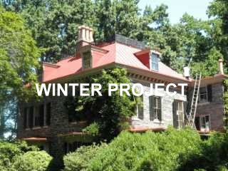 Winter project by Roof Menders saving old metal roof
